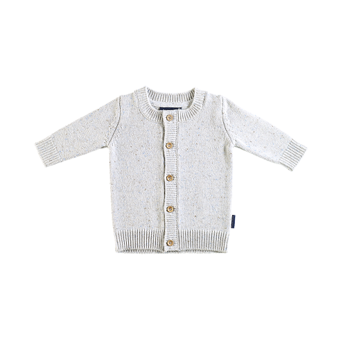 Ardallie Cashmere Cardigan in Oatmeal Speckle