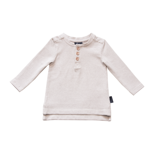 Croft Organic Henley T-Shirt – Long Sleeve