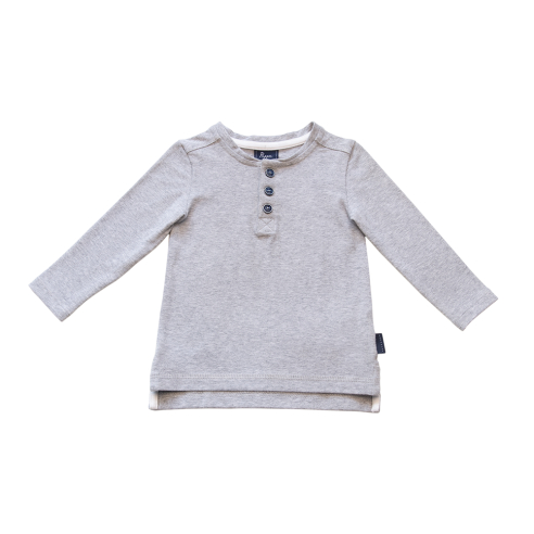 Croft Organic Henley T-Shirt - Long Sleeve