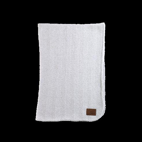 Evelix Cashmere Herringbone Blanket