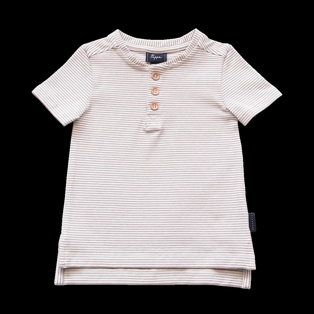 Croft Organic Henley T-Shirt - Short Sleeve