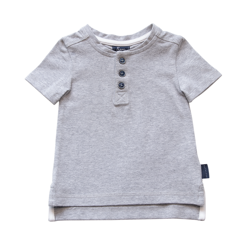 Croft Organic Henley T-Shirt - Short Sleeve