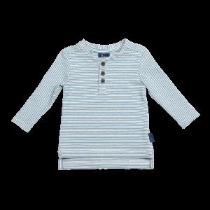 Croft Organic Henley T-Shirt - Long Sleeve