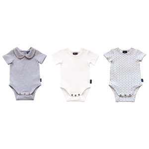 3 Pack Bodysuit - Grey Marle