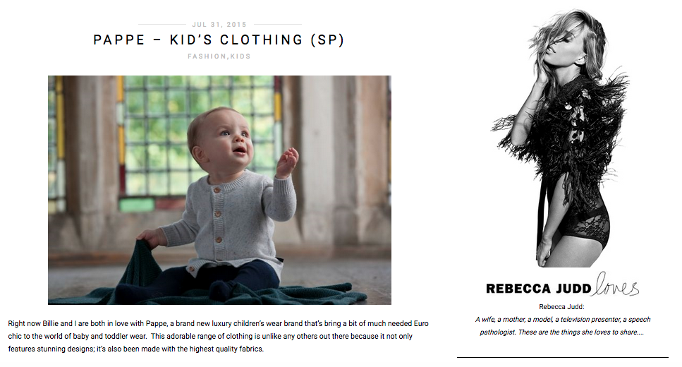 designer organic luxury baby clothing